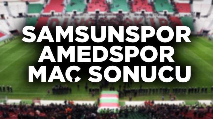 Samsunspor Amedspor maç sonucu