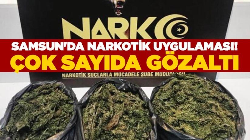 Samsun'da narkotik uygulaması! Çok sayıda gözaltı