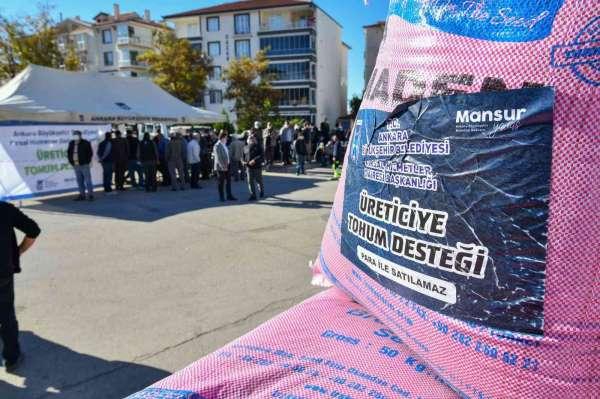 Türkiyenin bu yılki en büyük arpa ve buğday tohumu desteği Başkentte başladı