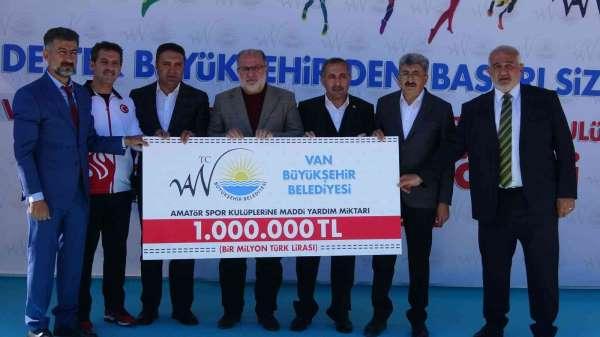 Vanda amatör spor kulüplerine 1 milyonluk destek