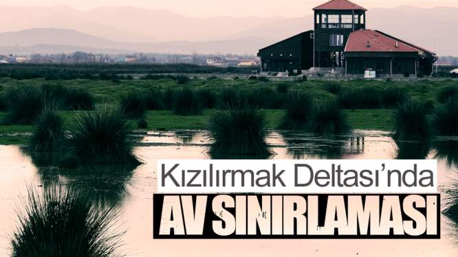 Kızılırmak Deltası'nda Ava Sınırlama
