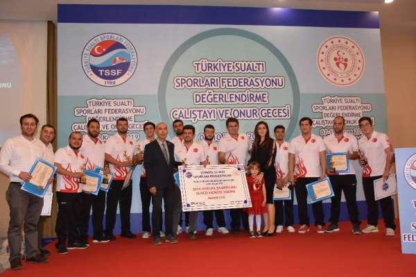 Türkiye'ye 49 uluslararası madalya kazandıran milli sporcular onur gecesinde bul