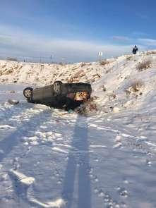 Aslanapa-Gediz Karayolunda trafik kazası: 2 yaralı
