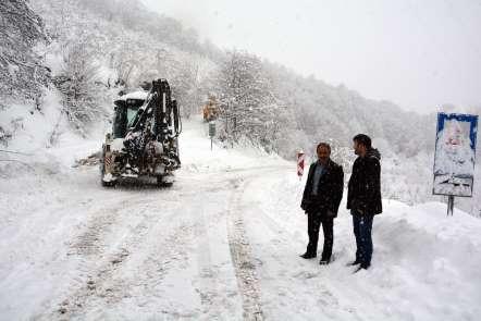 Ordu'da yoğun kar yağışı