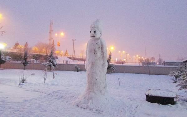 Samsun Haberleri: 3.5 Metrelik Kardan Adam