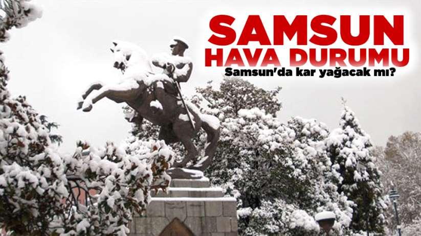 Samsunda kar yağacak mı? 9 Ocak Perşembe Samsun ve ilçeleri hava durumu