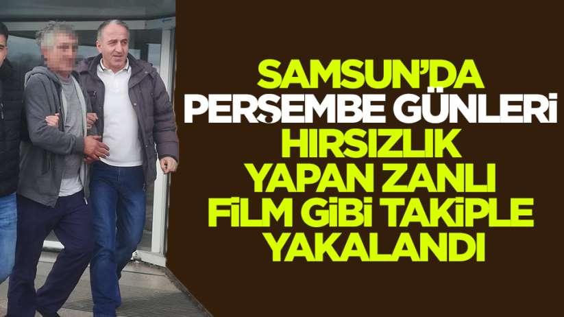 Samsun'da pazar hırsızı yakalandı