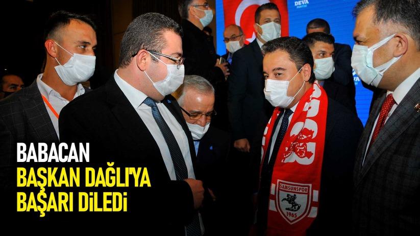 Babacan, Başkan Serkan Dağlıya başarı diledi