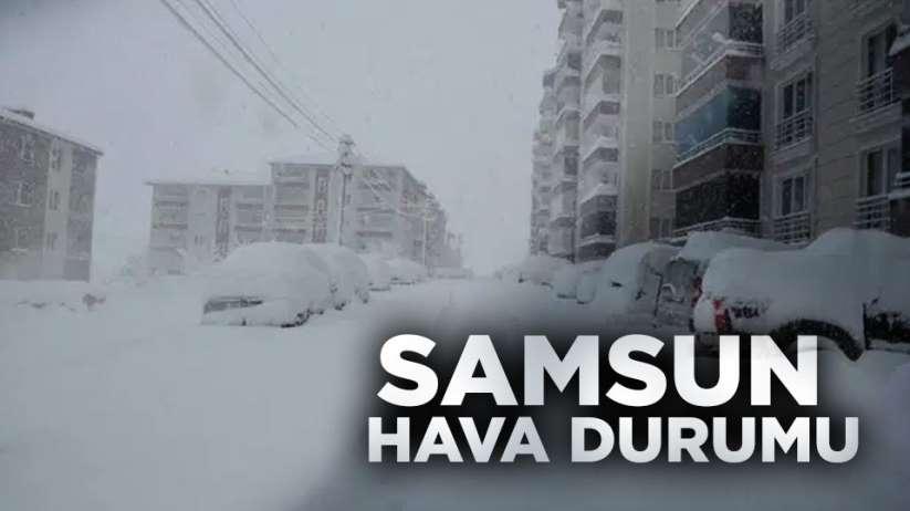 9 Şubat Pazar Samsun hava durumu