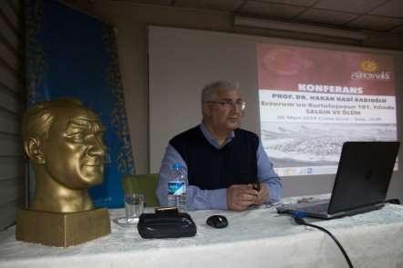 Güneş Vakfı'nda 'Erzurum'un kurtuluşunun 101. yılında salgın ve ölüm' konferansı