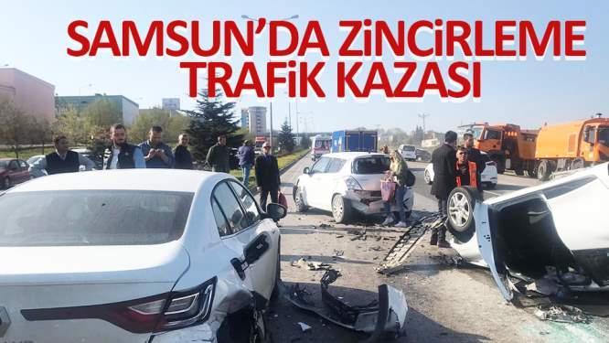 Samsun'da araçlar birbirine girdi