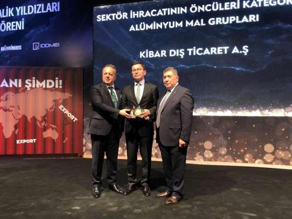 Kibar Dış Ticaret'e İDDMİB'ten 'ihracatın metalik yıldızı' ödülü