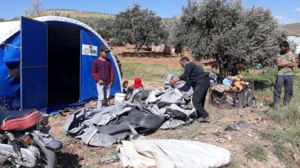Esad Rejimi'nin saldırıları sonucu siviller güvenli bölgelere göç etmeye başladı