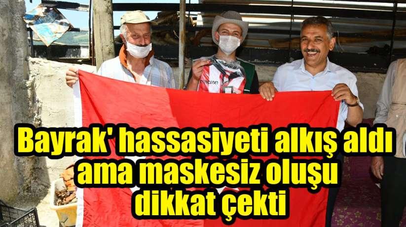 Samsun Valisi Kaymak'ın 'bayrak' hassasiyeti alkış maskesiz oluşu ise sitem aldı