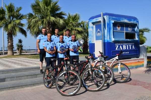 'Bisikletli zabıtalar' iş başında