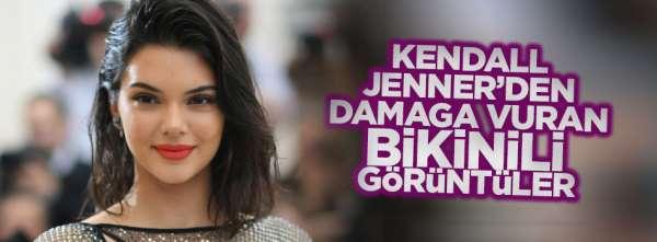 Kendall Jennerden bottle cap challengede damga vuran bikinili görüntüler