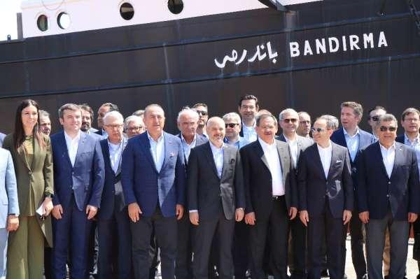 Bakan Çavuşoğlu ve büyükelçiler 'Bandırma Vapuru'nu gezdi