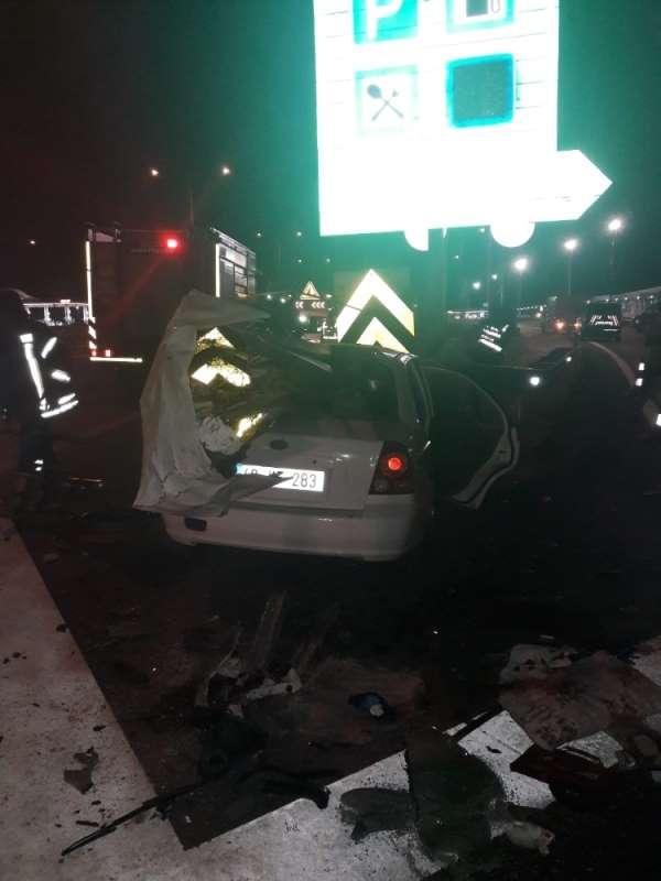 İzmir-İstanbul Otoyolu'nun Turgutlu kavşağı yakınlarında meydana gelen trafik ka