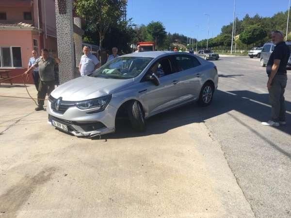 Boyabat'ta kaza: 1 çocuk yaralı