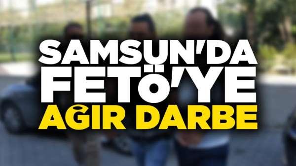 Samsun'da FETÖ'den aranan şahıslar örgüt evinde yakalandı