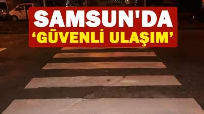 Samsun'da 'Güvenli ulaşım'