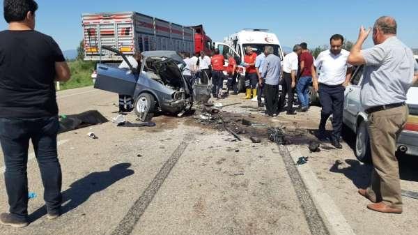Osmaniye'de zincirleme trafik kazası: 3 ölü, 4 yaralı