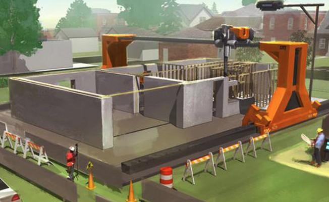 3 boyutlu yazıcılar ile 20 saatte bir ev inşa edilecek
