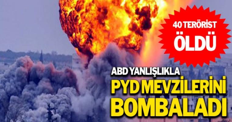 ABD Savaş Uçakları PYD`yi Vurdu: 40 Terörist Öldü