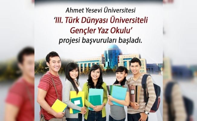 Ahmet Yesevi Üniversitesi 'III. Türk Dünyası Üniversiteli Gençler Yaz Okulu' pr