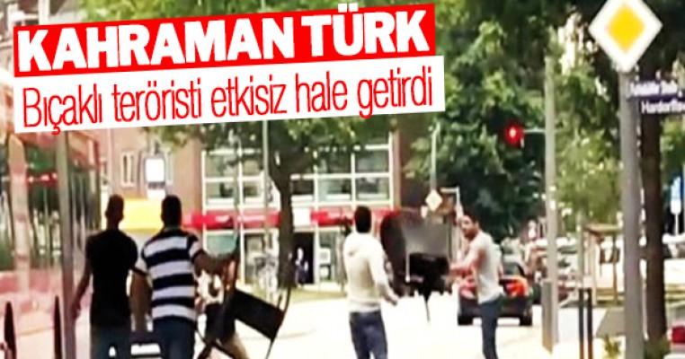 Almanya'da teröristi bir Türk yakalattı