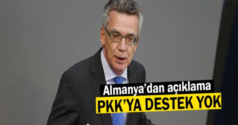 Almanya`dan açıklama: PKK`ya destek yok!