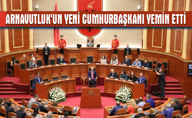 Arnavutluk`un yeni cumhurbaşkanı yemin etti