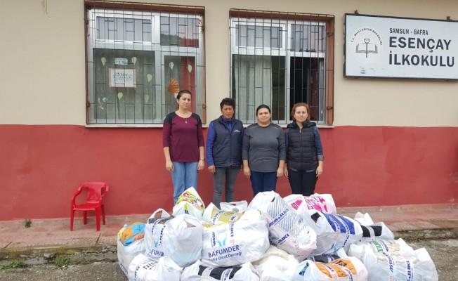 Bafra Umut Derneğinden Kırsal Mahallelere Yardım