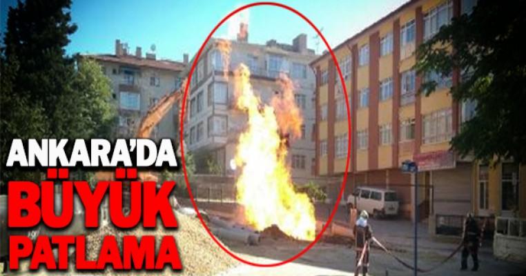 Başkent`te büyük panik! Şiddetli bir patlama oldu