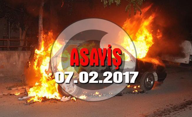 Başkent'te araç yangını