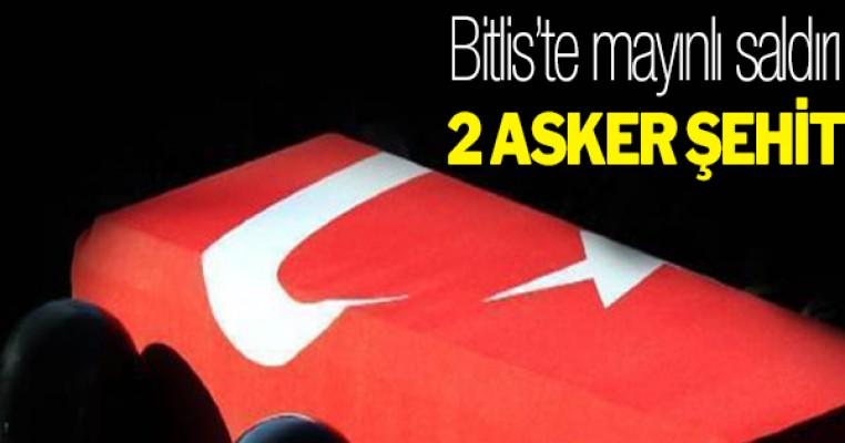 Bitlis`te askeri araca bombalı tuzak: 2 şehit, 1 yaralı