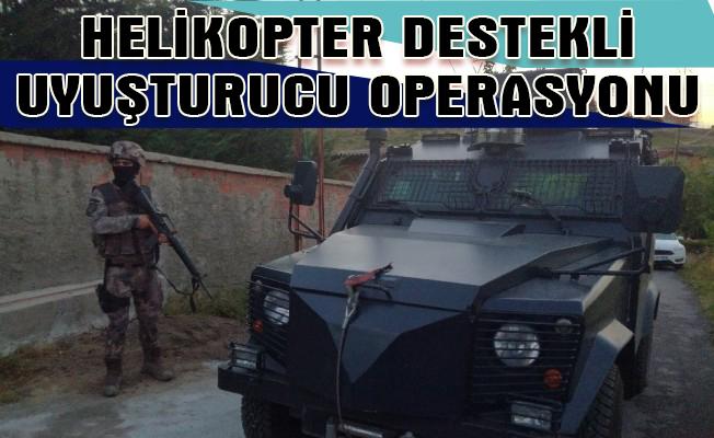 Çekmeköy'de Helikopter Destekli Uyuşturucu Operasyonu