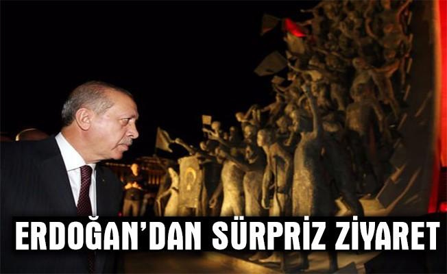Cumhurbaşkanı Erdoğan Şehitler Abidesi`ni ziyaret etti