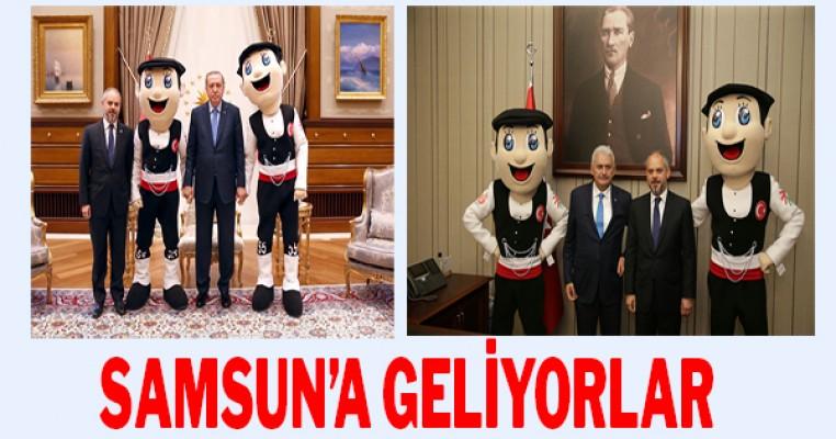 Cumhurbaşkanı Erdoğan ile Başbakan Yıldırım Samsun`a geliyor