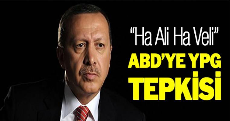 Erdoğan`dan ABD`ye YPG Tepkisi