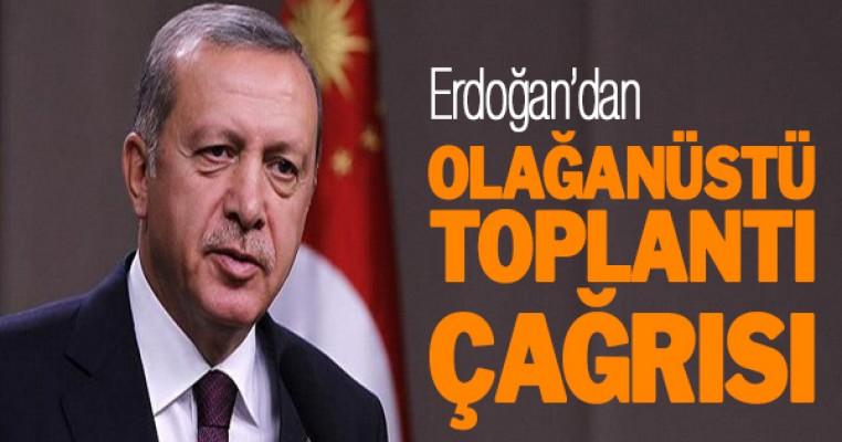 Erdoğan`dan sürpriz toplantı çağrısı