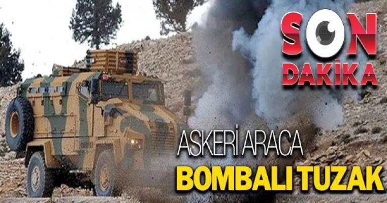 Erzincan`da askeri aracın geçişi sırasında patlama
