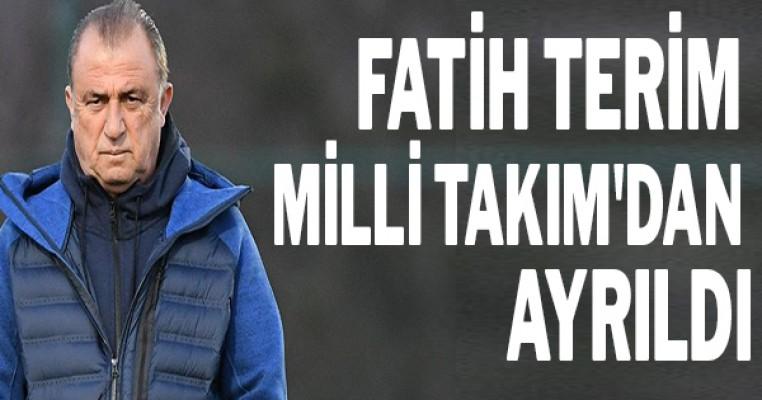 Fatih Terim Milli Takım`dan ayrıldı