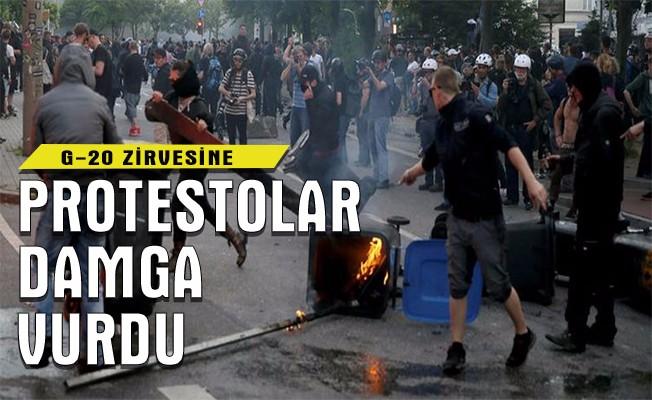 G-20 zirvesine protesto damgası