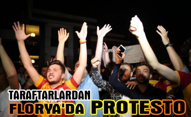 Galatasaraylı taraftarlardan Florya`da protesto