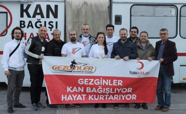 Gezginler Motosiklet Kulübü'nden kan bağışı