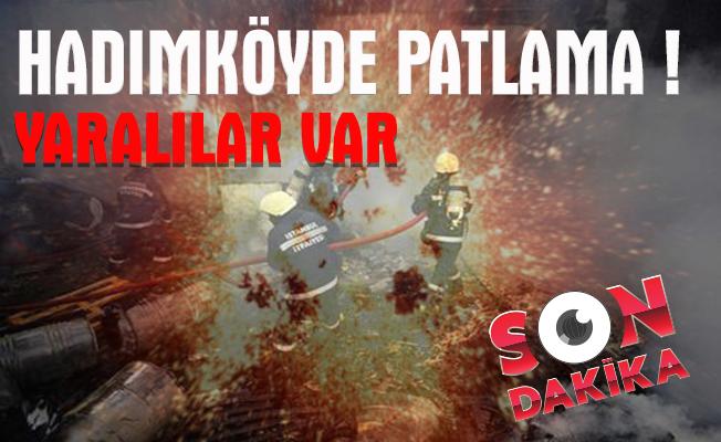 Hadımköy'de fabrikada patlama