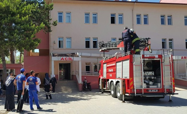 Hastanede yangın ve kurtarma tatbikatı