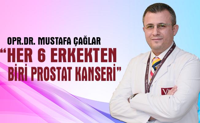 Her 6 erkekten biri prostat kanseri