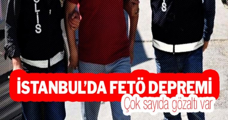 İstanbul`da FETÖ operasyonu: Çok sayıda gözaltı